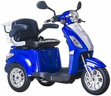 NEW 3 Wheeled BLUE 900W Electric Mobility Scooter FREE FAST DELIVERY + GIFT