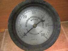 Vintage Monitor Steam Generator Mfg Co 0-30 PSI Pressure Gauge with Pipe Loop