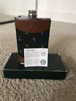 Marlborough Leather Golf Hip Flask | 8 Oz | Stainless Steel | Superb Condition