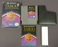 Taboo Sixth Sense  NES Nintendo Game Original BOX Complete CIB Manual Dust Cover