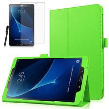 Samsung Galaxy Tab A 10.1 T580/T585 A6 Leder-Imitat Case Etui+Pen +Folie Grün-2