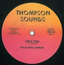 LINVAL THOMPSON Lion And Tiger 12 Inch Jamaican Thompson Sounds LT26 1979