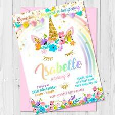 Personalised Unicorn Birthday Party Invitations