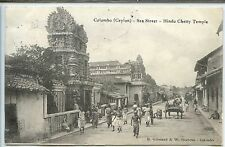 Ceylon Postcard - Colombo - Sea Street - Hindu Chetty Temple - Ceylan Sri Lanka