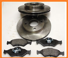 Ford Ka 1.3 Front Vented Brake Discs and Pads Set 2000-2008 240mm 4 stud vented