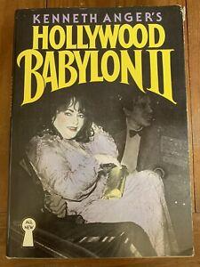 Hollywood Babylon II Kenneth Anger, 1984 Hardcover BC Edition