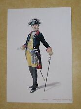 R. MOORE WATER COLOR PAINTING ART GERMAN MILITARY PRUSSIAN OFFICER INFANTRY 1772