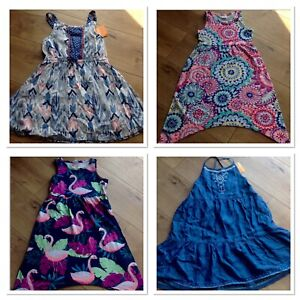 Gymboree Girl Dress XS 4 5 Flamingo Flower Ikat New