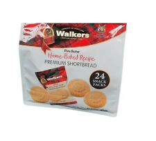 Walkers Premium Shortbread Rounds 600g, 24 Snack Packs - 2 Biscuits Per Pack