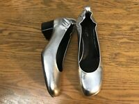 RAG AND BONE EREN SILVER LEATHER HEEL SHOES NWOB SIZE 7.5 (37.5)