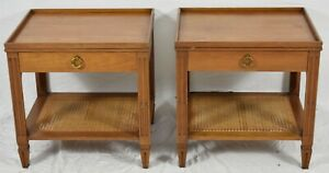 Pair of Baker Mahogany Mid Century Modern End Table Nightstand