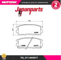 PPW04AF Kit pastiglie freno a disco post Chevrolet-Opel (MARCA JAPANPARTS).