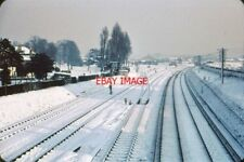 PHOTO  1961 BRENTFORD OLD GOODS YARD. TAKEN IN THE WINTER OF 1961 THIS VIEW OF B