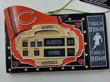 NFL Chicago Bears SCORE BOARD Ornament, NEW
