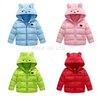 Enfants manteau hiver chaud coton rembourré en duvet veste courte zipper