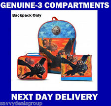 HOW TO TRAIN YOUR DRAGON BACKPACK SCHOOL BAG GENUINE MERCHANDISE, LARGE
