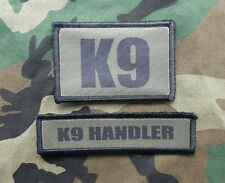 K9 Handler OD Green Morale Patch 2 Piece Set Sheriff SWAT Border Patrol Police