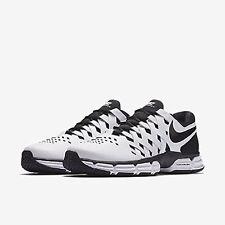 brand new bbbb6 9fbab Nike Para Hombre Zapato De Capacitación Lunar Fingertrap Tr 4E blanca y  negra, 898065 100 Talla 11.5