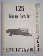 Gehl 125 Manure Spreader Parts Manual Catalog Book 5/86 Original