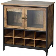 Wine Cabinet Liquor Whiskey Cabinets Glass Storage Buffet Furniture Small  Rustic