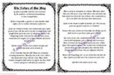 Nature of Our Wicca Ways for Wicca Book of Shadows Spell 2 pgs on Parchment