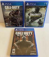 Playstation 4 PS4 Bundle Lot Call of Duty Black Ops 3 Infinite Advanced Warfare