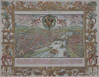 Frankfurt - la citè de Francfort - Sebastian Münster 1575 - Original - Rare