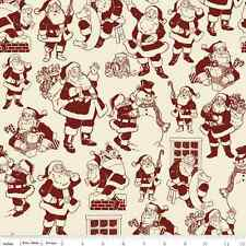 Fat Quarter Lost & Found Christmas Santa Red Quilting Fabric - Riley Blake