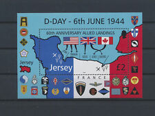 LM79215 Jersey D-Day anniversary military good sheet MNH