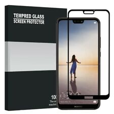 Huawei P20 Screen Protector Best Tempered Glass Thin 100% Full Protection BLACK