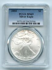 2004 $1 American Silver Eagle Dollar 1oz PCGS MS69