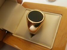 Stunning 18ct gold men's/gent's ring with onyx hallmarked