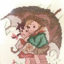 "Hummel Needlepoint ""Stormy Weather"" Wood Framed 17 x 14 1/2"" Picture"