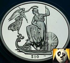 2008 SCARCE BRITISH VIRGIN ISLANDS $10 Ten Dollars Britannia Silver Proof Coin