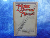 The Motor Electrical Manual (Third Edition - 1924?) HB BOOK Vintage Veteran Cars