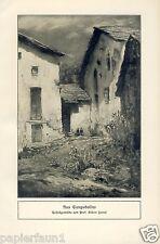 Aus Campodolino Kunstdruck v. 1912 Albert Hertel Berlin Campodolcino Lombardei -