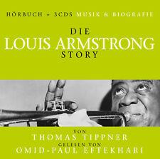CD LA LOUIS ARMSTRONG Story - Música & Biografía audiolibro + 3cds