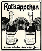 Rotkäppchen Sekt Freyburg Reklame 1906 Weinkeller Freyburg Werbung Champagner