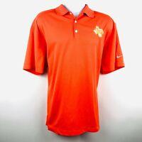 Nike Golf Mens Polo Shirt Size XL Bright Orange Solid Billy Bobs Texas Logo