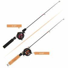 Ice Fishing Reel Rod Lightweight Mini Spinning Rods Lure Fish Feeder Telescopic