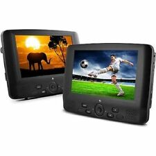 "Dual Screen Portable 9"" Dual DVD Player 12V DC Car Boat Kickstand MP3 Mpeg4"