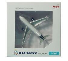 Herpa 517836 Olympic Air Airbus A319 1:500 REG#SX-OAO Display Model