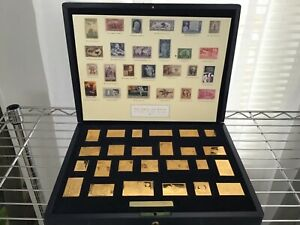 THE AMERICAN DREAM 25 replicas of US stamps minted sterling silver ingots plated