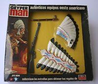 GEYPERMAN ORIGINAL 1980 JEFE INDIO action man gi joe madelman REF 7513
