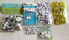 Large Lot Of Plastic Wiggle Googly Eyes, Round Oval