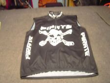 PIRATE Black White sleeveless Cyclist Jersey Adult Size XXL