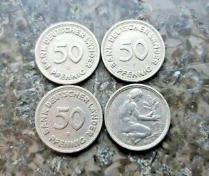 50 Pfennig 1949 D F G J Bank Deutscher Länder