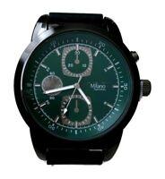 Men's Casual Watch Milano MC46232, Mens Fashion Watch Black Silicone Band