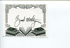 Brad Meltzer Decoded Political Thriller Author Signed Autograph Bookplate
