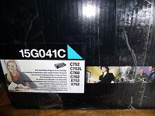 Genuine Lexmark 15G041C Cyan Toner Cartidge  OPEN BOX  Free Shipping